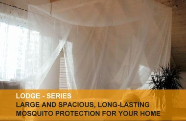 Lodge mosquito nets